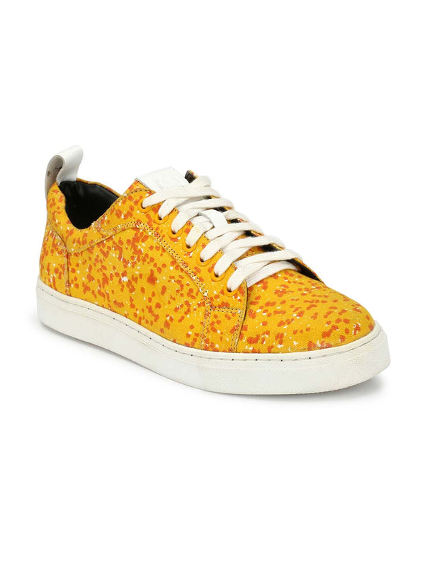 Alberto Torresi Rizzuto Yellow Casual Shoes