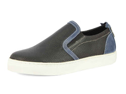 mens blue leather casual shoes