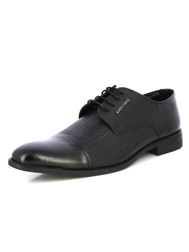 Alberto Torresi Nerve Black Formal Shoes