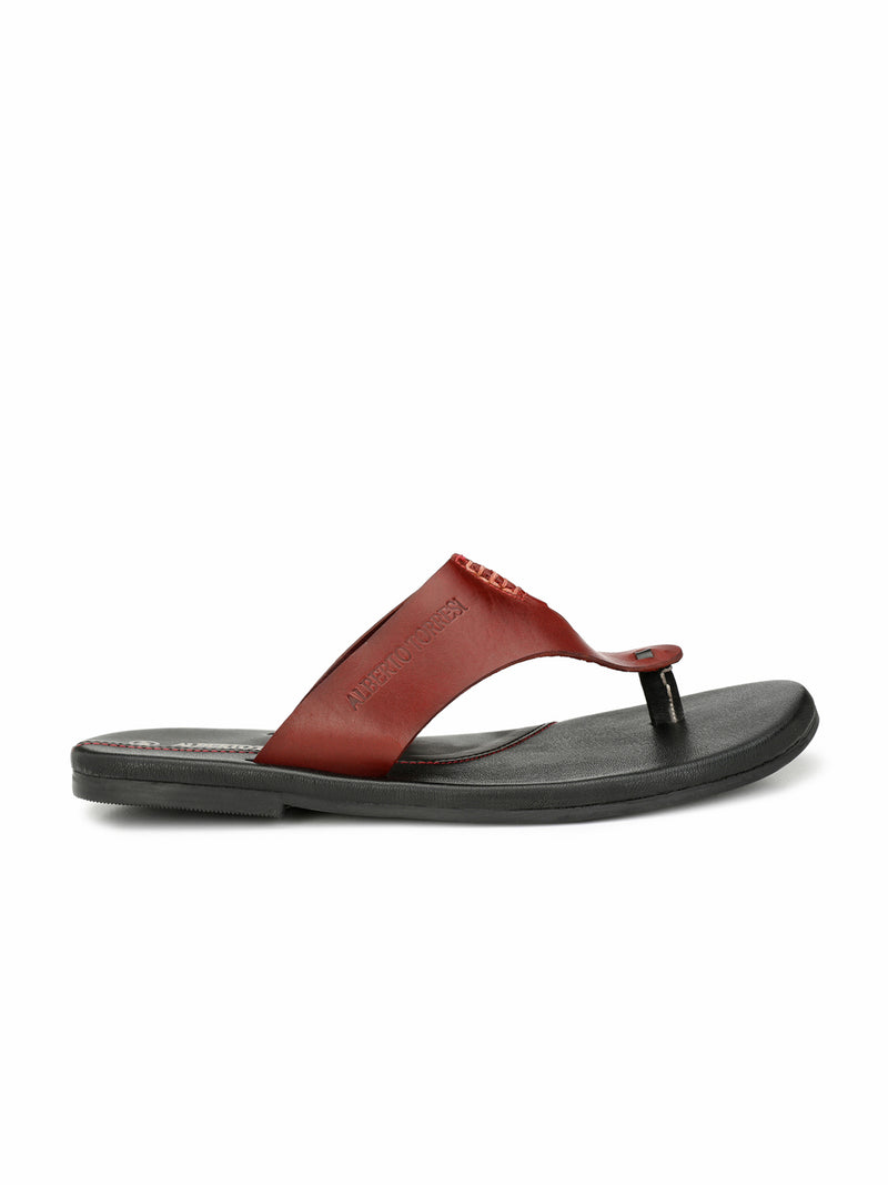 Alberto Torresi Tropical BURGANDY Slippers