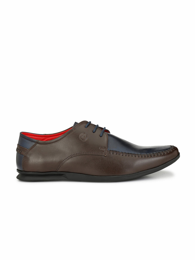 Alberto Torresi Geremia Brown+Blue Formal Shoe