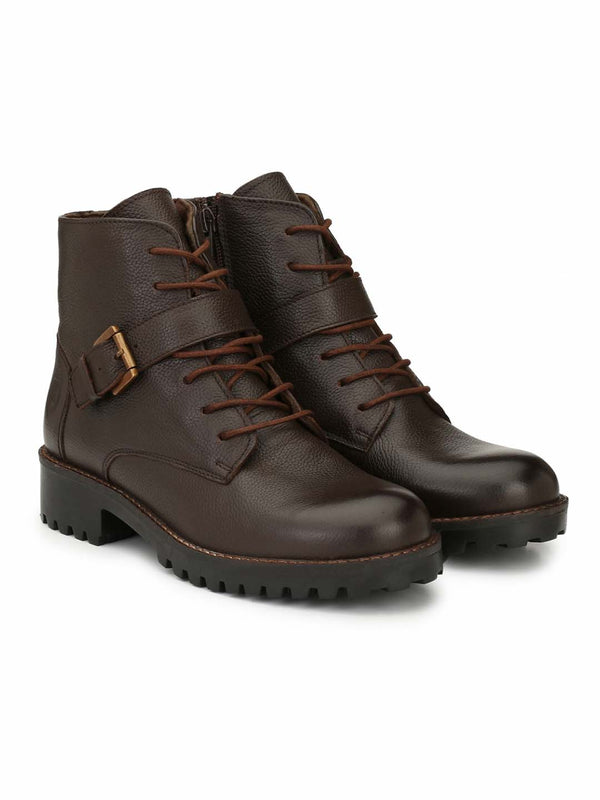 Alberto Torresi Women Nerea Dark Brown Boots