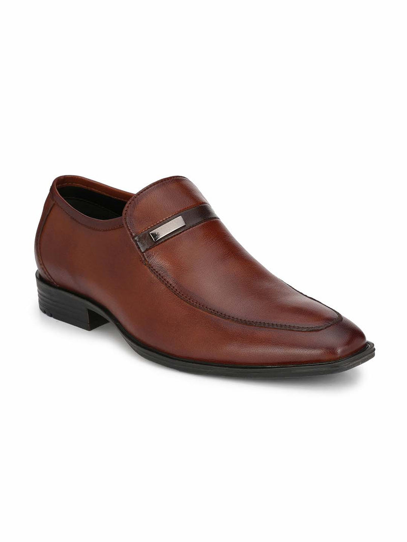 Alberto Torresi Leon Tan+Brown Formal Shoes