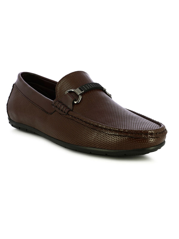 Brown Leather Loafer Shoes For Men