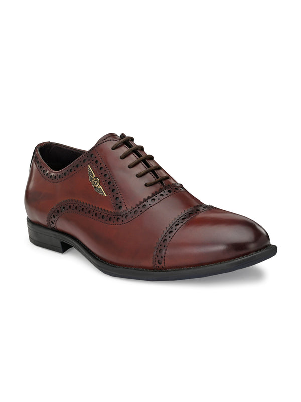 Glossy Finish Dotted Bordo For Men