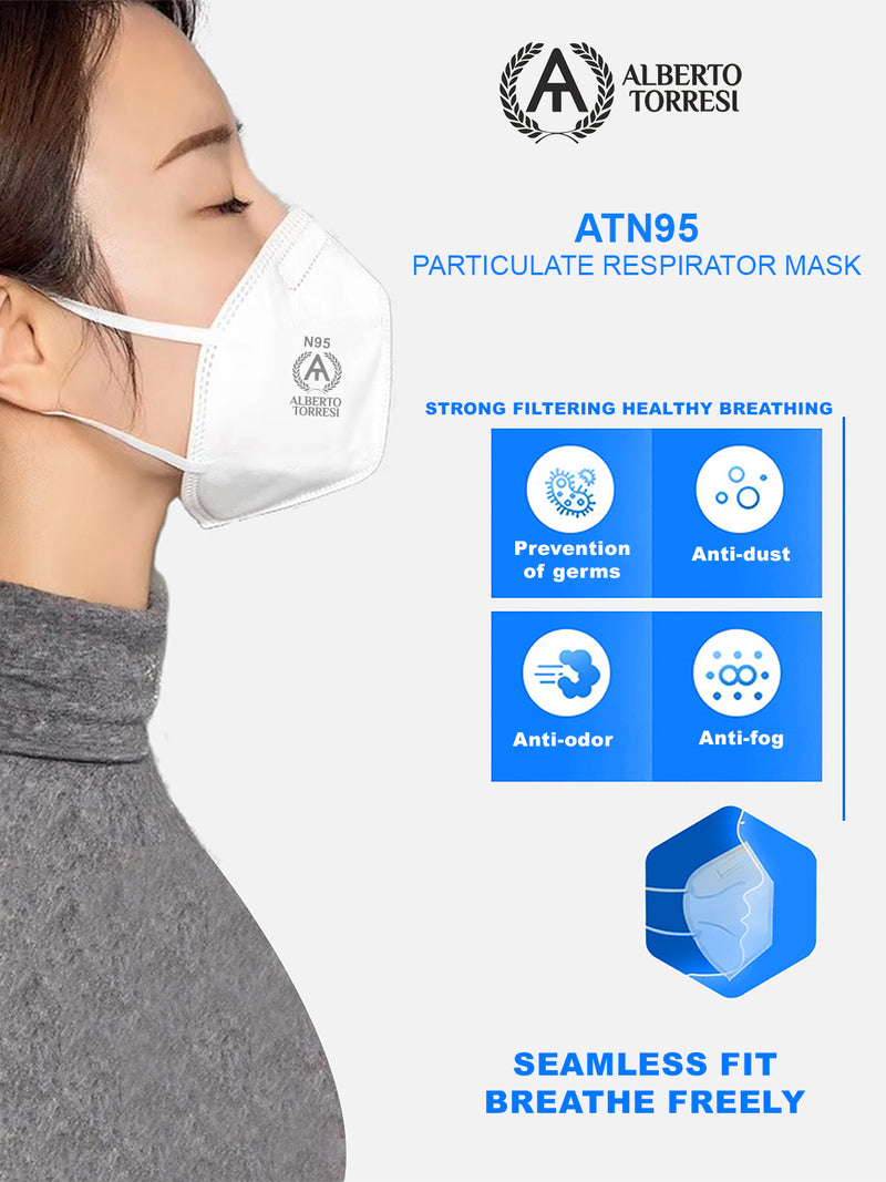ATN95 White Particulate Respirator Mask for Protection - Pack of 4