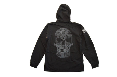 FRAMEWORK SKULL - NYLON HOODED JACKET