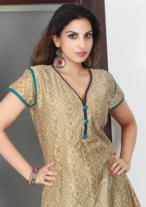 Fancy Beige Color Kurti