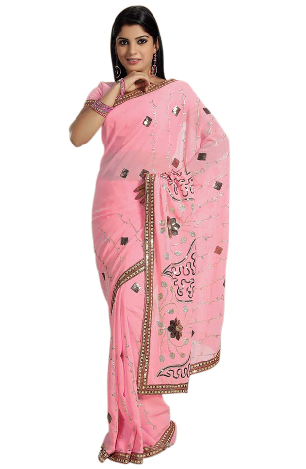 SEQUIN EMBROIDERED PARTY WEAR SAREE