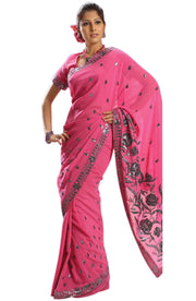 METALLIC EMBROIDERED CHIFFON SAREE