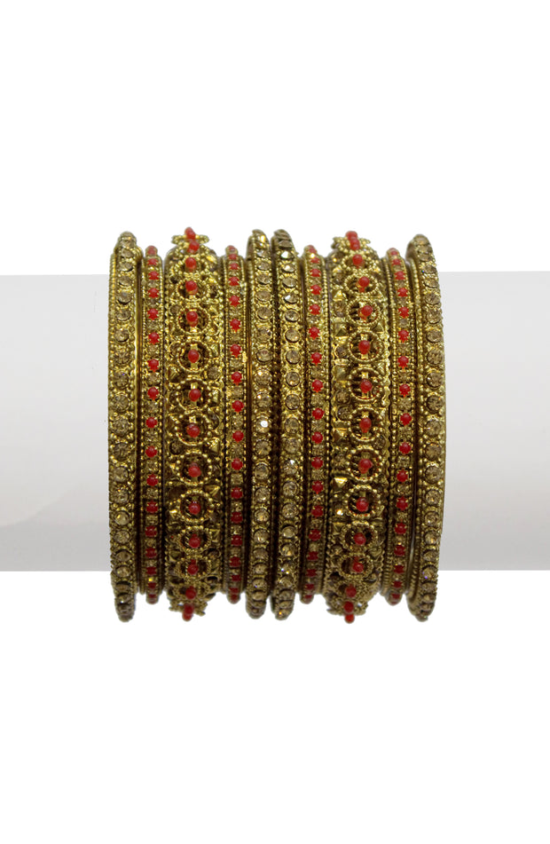 Plated With Gold Enamel Bangles