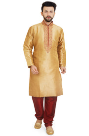 Malvari Silk Embroidered Kurta Pyjama