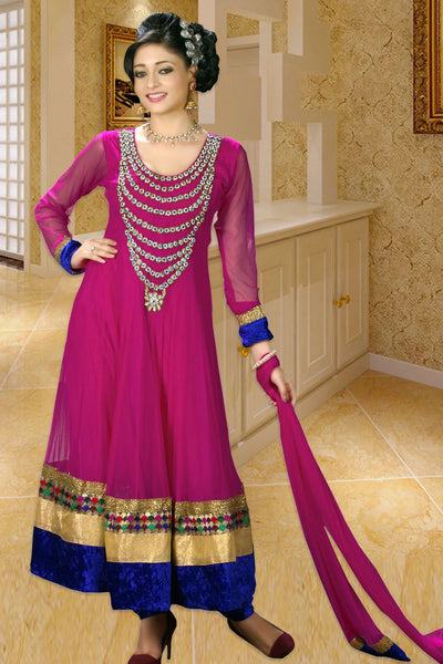 HAND EMBROIDERED ANARKALI SUIT
