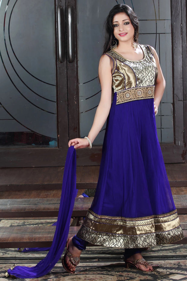 DESIGNER PATCHWORK ANARKALI SUIT