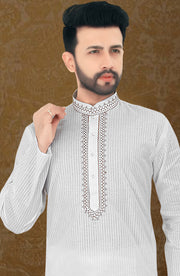 Cotton Traditional Embroidered Kurta Pyjama