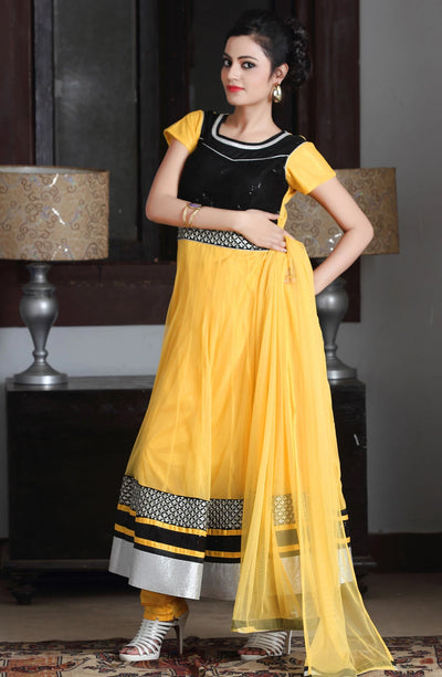 LONG NET ANARKALI SUIT