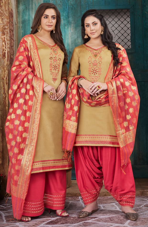 Chanderi Silk With Banarasi Dupatta