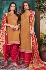 Two Tone Chanderi Top With Banarasi Dupatta