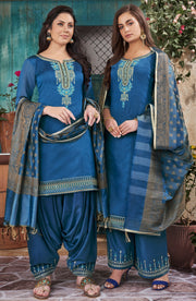 Elegent Ethnic Chanderi Embd Top And Banarasi Dupatta