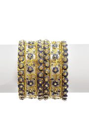 Gold Plated Enamel Bangles