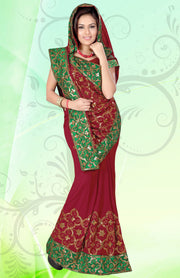 TRADITIONAL HEAVY EMBROIDERED SAREE