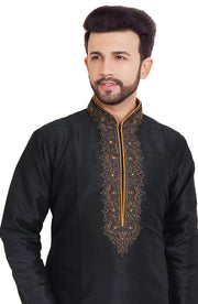 Dupian Silk Embroidered Kurta Pyjama