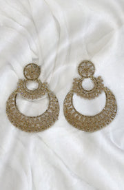 Gold Chand Bali Style Earrings