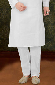Cambric Cotton Kurta Pyjama With Resham Work