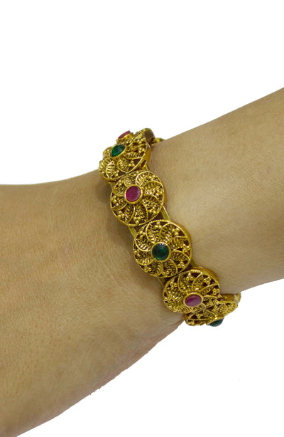 Gold Plated Free Size Kada