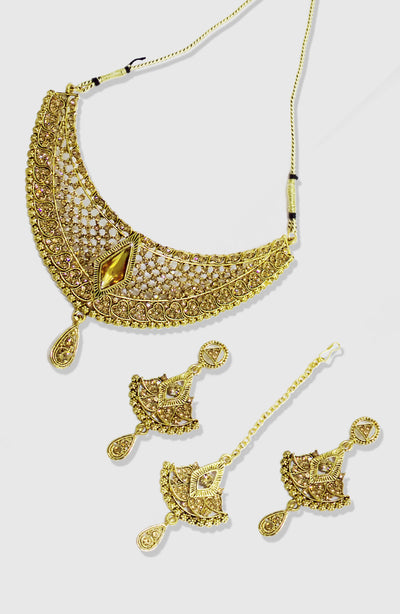 Gold Platted Party Wear Choker Set
