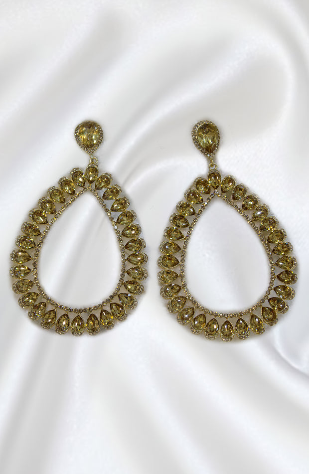 Drop And Dangel Long Gold Earrings