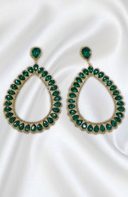 Drop And Dangel Long Green Earrings