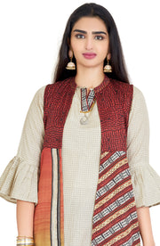 Versatile Modern Yet Traditional Kurta Jacket With Dhoti