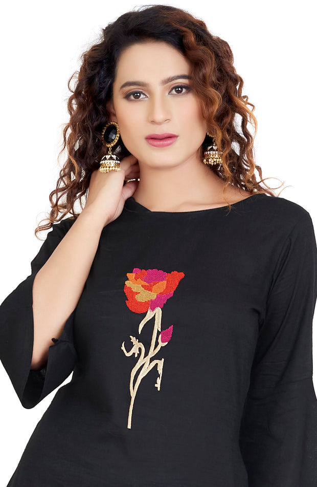 Apple Cut Round Neck Short Kurti