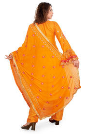 Cotton Silk Embroidered Salwar Set