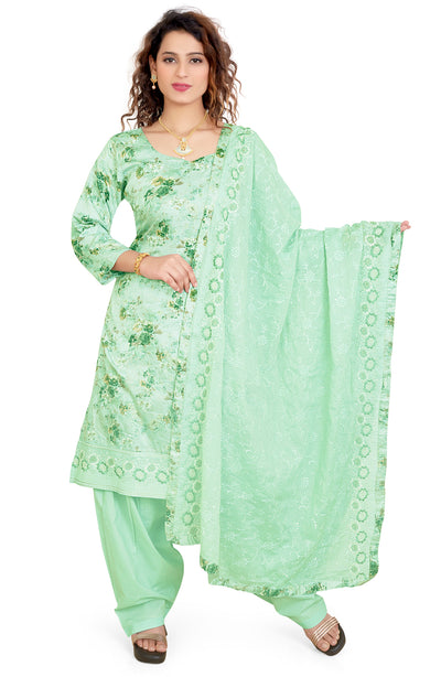 Glace Printed Cotton Salwar Set