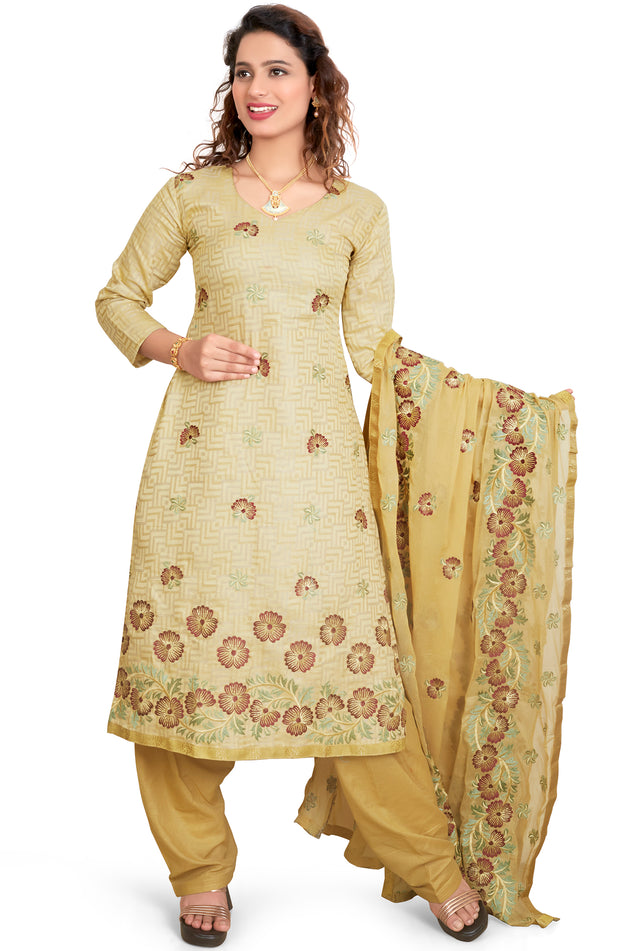 RESHAM EMBROIDERED SALWAR KAMEEZ