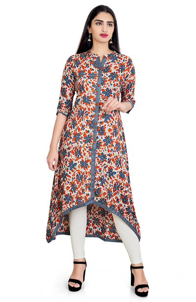 Asymmetrical Cotton Silk Kurti