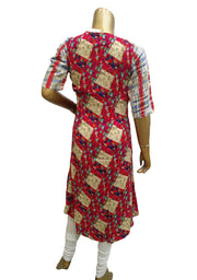 Rayon Printed Long Kurti With Jacket