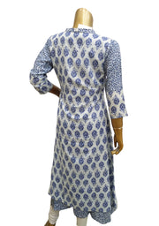 Denim Rayon Printed Jacket Style Kurti