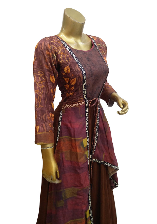 Rayon Printed Long Dress Style Kurti