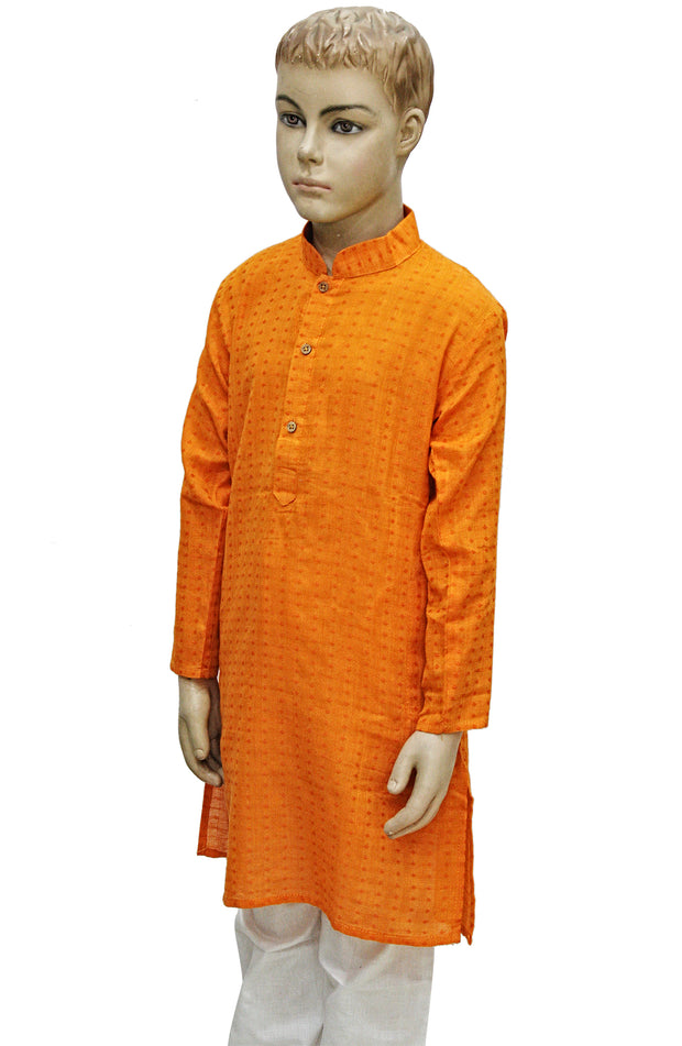 Textured Cotton Kurta Pyjama