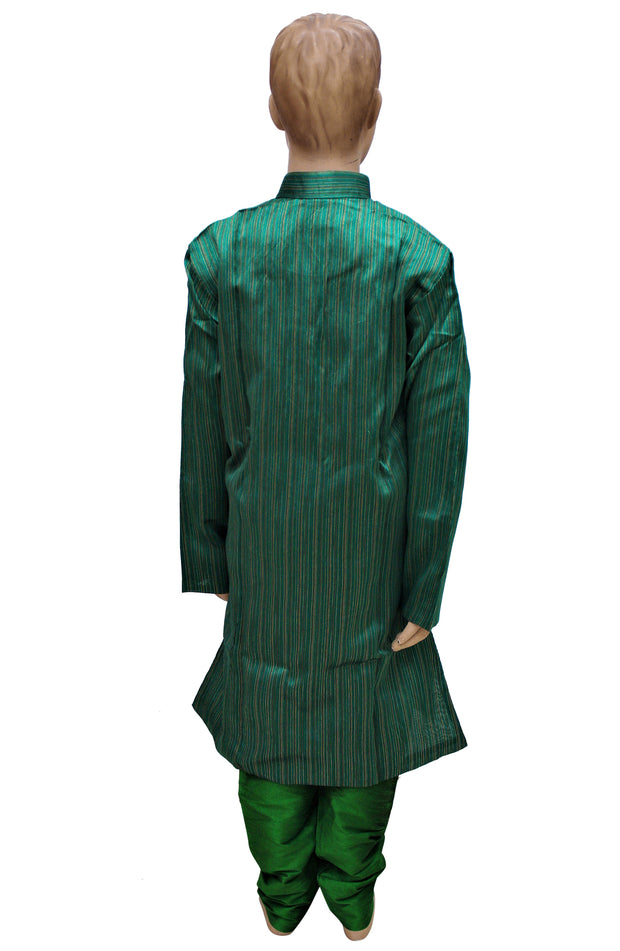 Festive Wear Green Lurex Silk Kurta Art Silk Pyjama