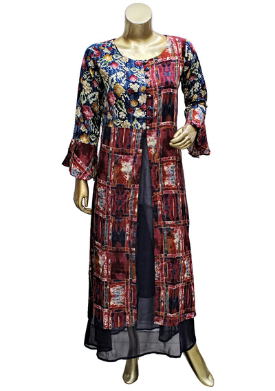 Rayon Digital Printed Long Kurti