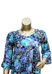 Empire Style Rayon Printed  Top And Plazzo