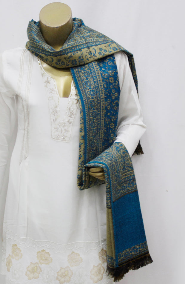 Reversable Jaal Woven Shawl