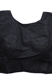 Cotton Silk BLACK Zip Blouse