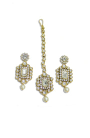 Kundan And Pearl Choker Necklace Set