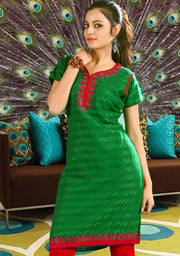 Self Woven Cotton Kurti