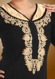 Black & Gold Full Sleeves Kurti